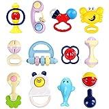 Fenteer 幼児 赤ちゃん ベビー ガラガラ おしゃぶり 知育玩具 セット 贈り物 12本 /セット