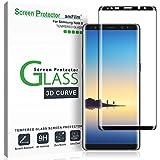 amFilm Galaxy Note 8 Screen Protector Glass, Full Cover (3D Curved) Tempered Glass Screen Protector with Dot Matrix for Samsung Galaxy Note 8 (1 Pack, Black)
