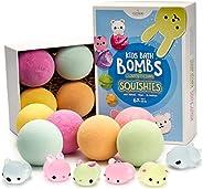 Fizzykiki - Kid's Essential Oil XL Bath Bombs Kit (6 Pack) | Surprise Glow in The Dark Mochi Squishy Toys