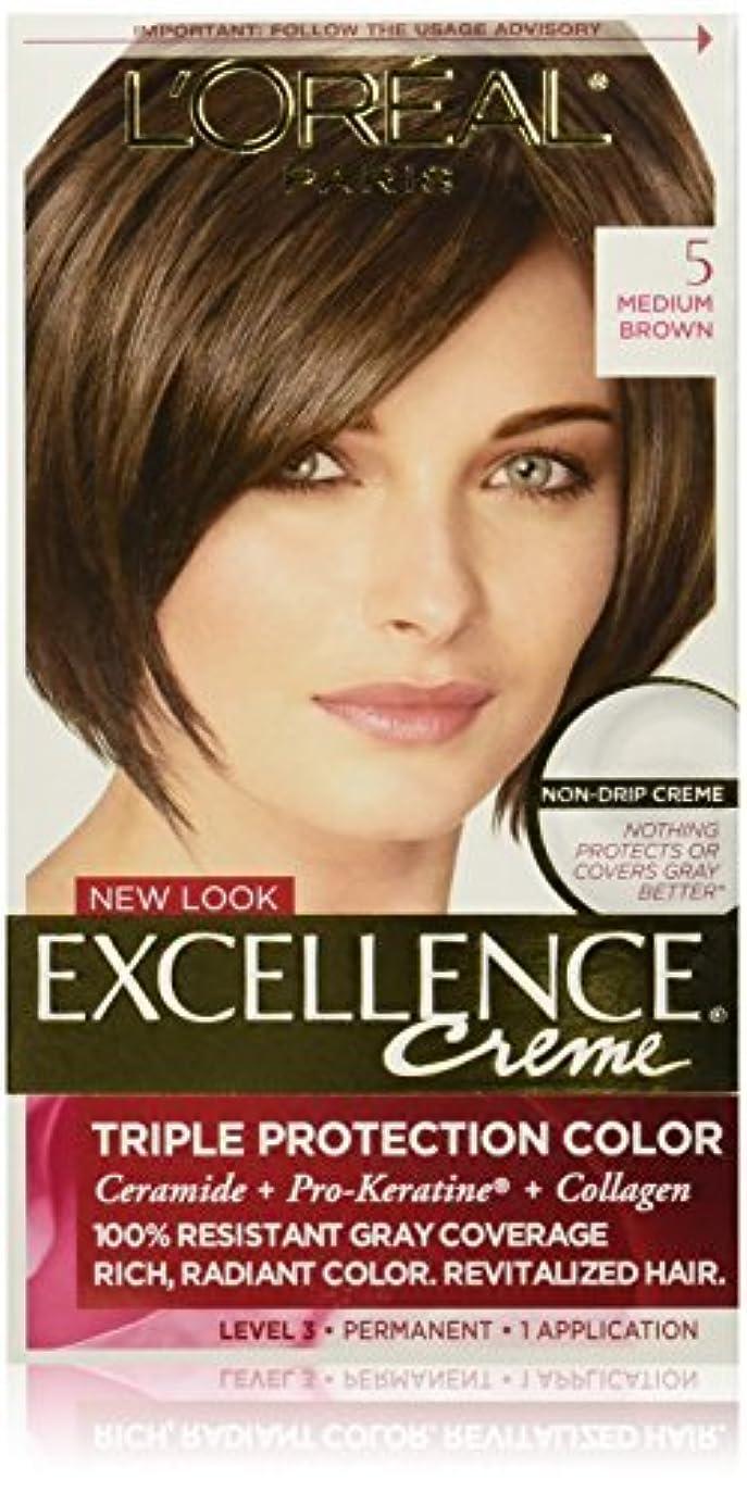 壮大な崇拝する貫入Excellence Medium Brown by L'Oreal Paris Hair Color [並行輸入品]