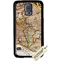 Samsung S5 ケースVUTTOO 世界一周 Samsung Galaxy S5専用ケース(ブラック) [並行輸入品]