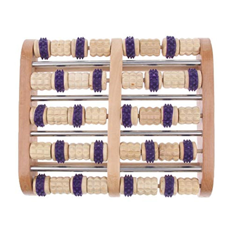 させる普通に申し立てBaoblaze デュアルフットマッサージローラー 家庭用 サロン用 フットマッサージ 木製 高品質