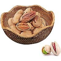 フルーツバスケット 果物かご 北欧風収納バスケット フルーツプレート おひつ?キャンディーかご お菓子収納かご 収納かご 果物、野菜、、雑貨、 小物 多機能 ラタン製