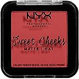 NYX Professional Makeup Sweet Cheeks Creamy Powder Blush Matte - Citrine Rose