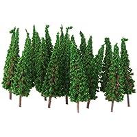 【ノーブランド品】樹木 仏塔の木 モデルツリー 50本 鉄道模型 ジオラマ 箱庭 鉄道風景