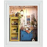 Liebeye LED ドールハウス フレーム クリエイティブ LED ドールハウスフレーム おしゃれな手作り DIYギフト 母の日やバレンタインデーのプレゼント 暖かい朝の光
