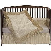 Baby Doll Bedding Crocodile II Crib Bedding Set Beige [並行輸入品]
