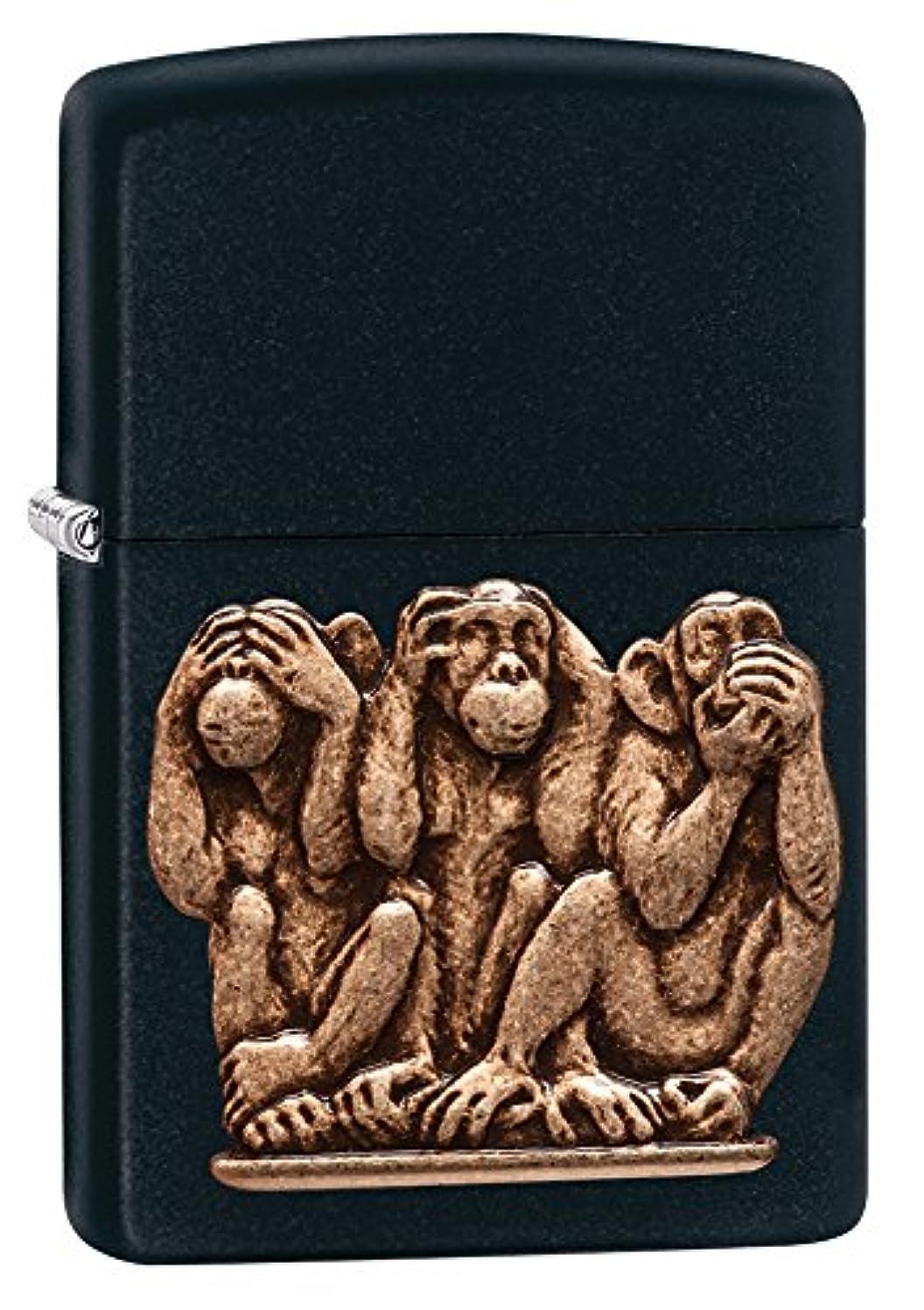こねる遊具地球ZIPPO(ジッポー) Animal (アニマル) ライター 日本未発売 29409 Black Matte Monkey [並行輸入品]