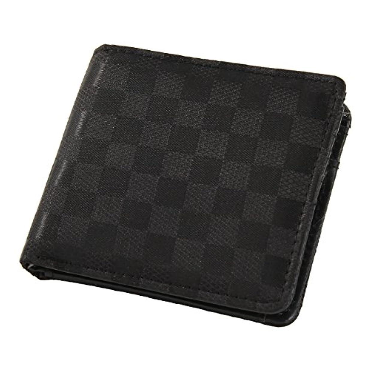 化石リクルートステープルJOKnet 財布 メンズ 二つ折り財布 ジャガード柄二つ折り財布 サイフ