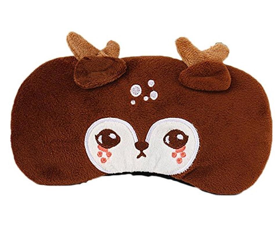 弓花カールかわいい漫画のデザインソフトぬいぐるみの目のマスクカバー、#04