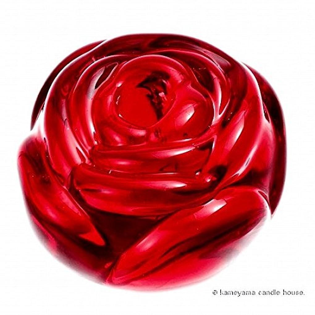 貫入途方もない定期的kameyama candle(カメヤマキャンドル) ローズパーティーテーパーホルダー 「 レッド 」(J5330000R)