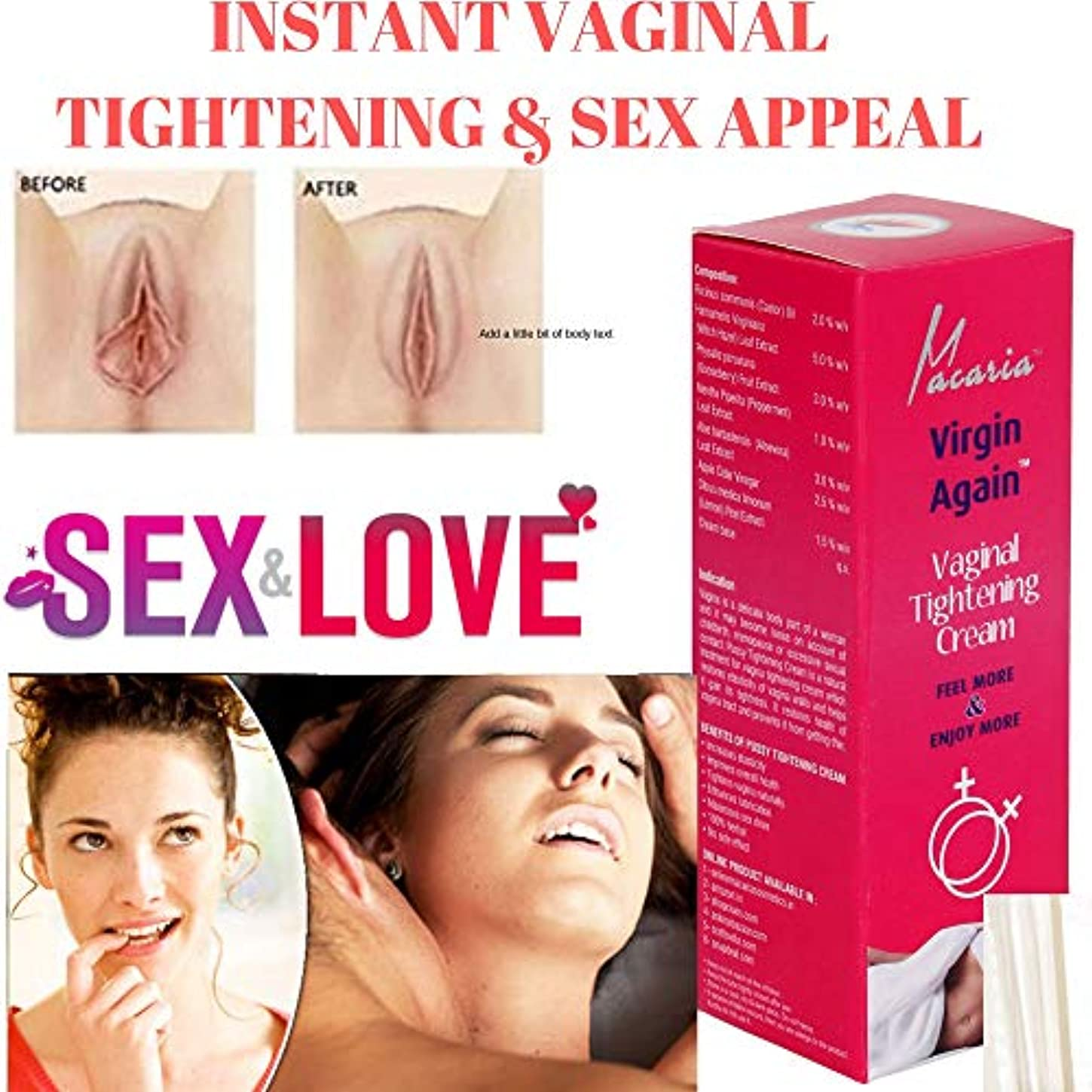 最小結晶スナッチVIRGIN AGAIN CREAM ( VAGINAL VAGINA TIGHTENING CREAM GEL LOTION VIRGIN AGAIN CREAM ( VAGINAL VAGINA TIGHTENING...