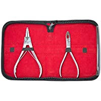 Ring Plier Body Piercing Tool Kit - 2 Ring Opening and Closing Pliers with a High-quality Pouch Included