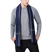 Panegy Men's Classic Cashmere Long Scarf Soft Warm Winter Scarves 70inch/180cm Long