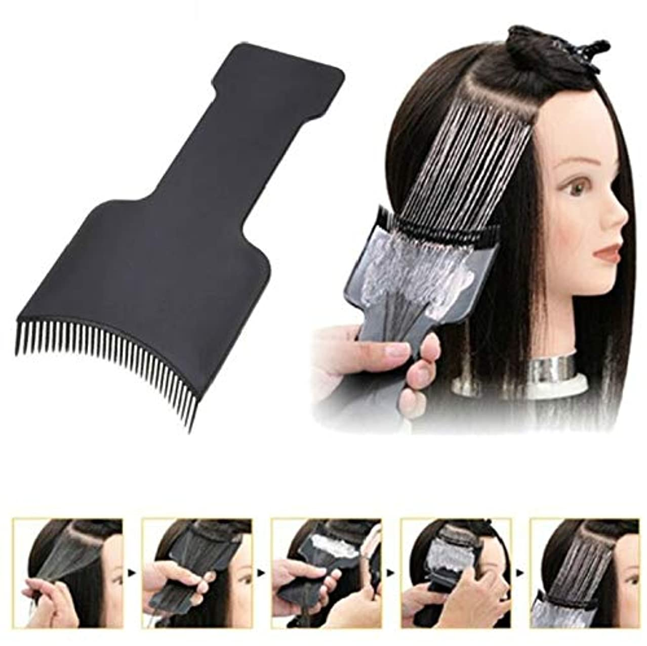 区別窓を洗う独立した2 Size/set Professional Fashion Hairdressing Hair Applicator Brush Dispensing Salon Hair Coloring Dyeing Pick...