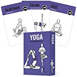 Yoga Cards, Pose Sequence Flow - 70 Yoga Poses, 9 Sequences - Sanskrit & English Asana Names - Yoga Sequencing & Flow Practice Guide for Beginner & Intermediates - Durable Plastic