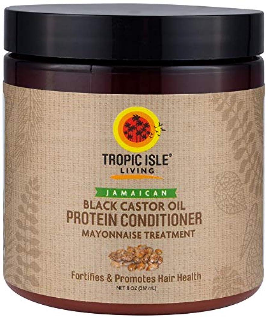 苦しむ調停するクリケットJamaican Black Castor Oil Protein Hair Conditioner by Tropic Isle Living