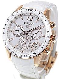 [アストロン]ASTRON 腕時計 アストロン 第3世代 ソーラーGPS チタンモデル ダイヤ入り白文字盤 サファイアガラス ローズゴールドダイヤシールド SBXC004