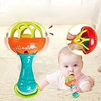 Bifast 子供用 かわいい小さなボール ベビーハンド ガラガラ ジングルシェイキングベル ベビー教育玩具