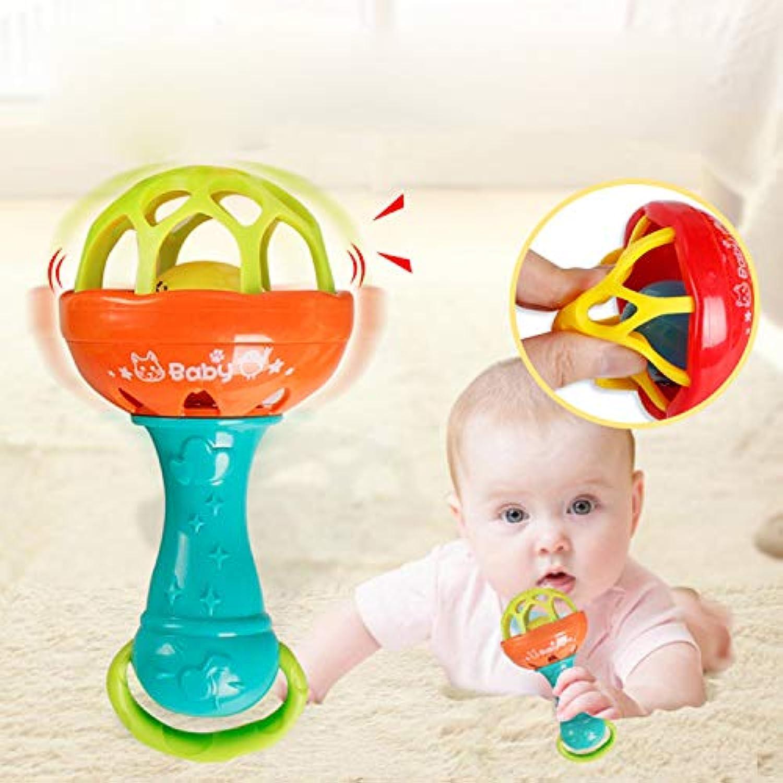 Wekold 子供用 可愛い ベビーハンド ガラガラ モービル ジングル 揺れるベル 赤ちゃん教育玩具