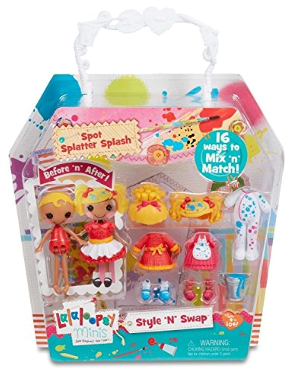Lalaloopsy Minis Style 'N' Swap Doll- Spot Splatter Splash [並行輸入品]