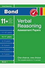 Bond Verbal Reasoning Assessment Papers 10-11+ years Book 1 Paperback