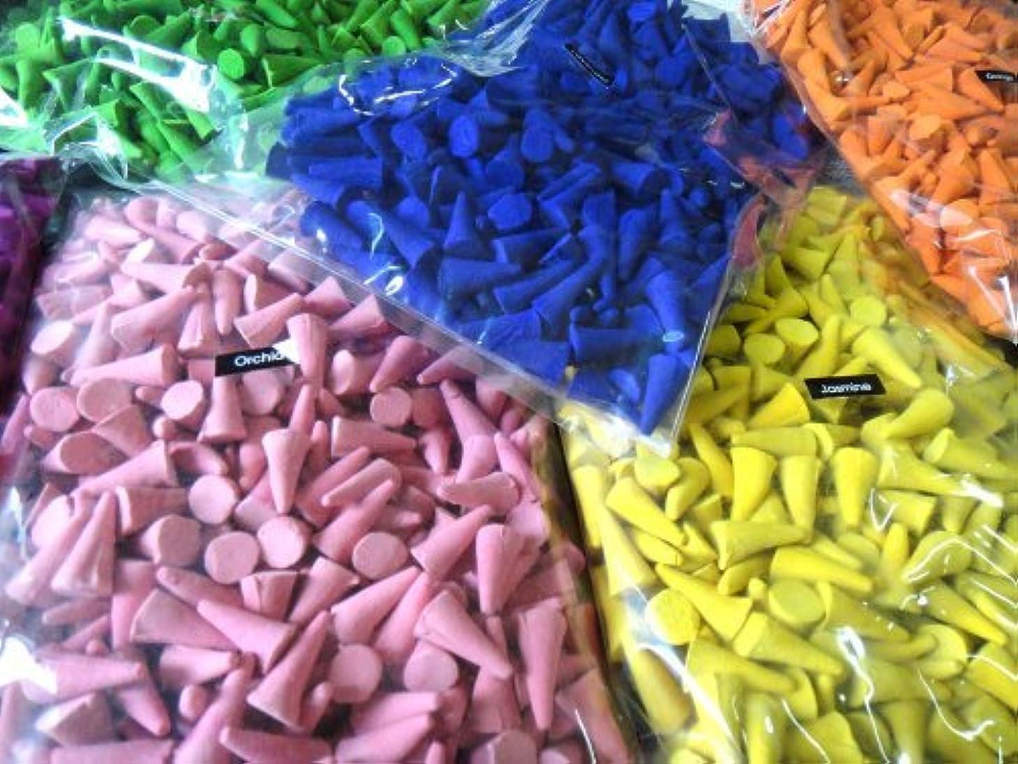 禁じる上回るうんIncense Conesミックスのさまざまな香り(パックof 100 Cones ) ThaiEnjoy製品