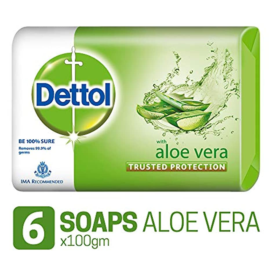 胆嚢カウボーイマンハッタンDettol Soap - 100 g (Pack of 6, Aloe Vera)
