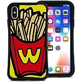 WAYLLY(ウェイリー) iPhone XS Max ケース アイフォンXS MAXケース くっつくケース 着せ替え 耐衝撃 米軍MIL規格 [ポップフード ポテト] MK