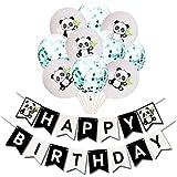 TOYMYTOY 風船セット飾り付け パンダのテーマ 誕生日 パーティー 風船キラキラ 紙吹雪風船 (みどり))