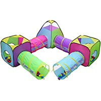7pc Children Play Tent and Tunnel Toyジャングル、インドア&アウトドア再生テント、子供Playhouse Pop Upテントトンネル付き、ボーイズ、ガールズテントキッズテント、by hide-n-side