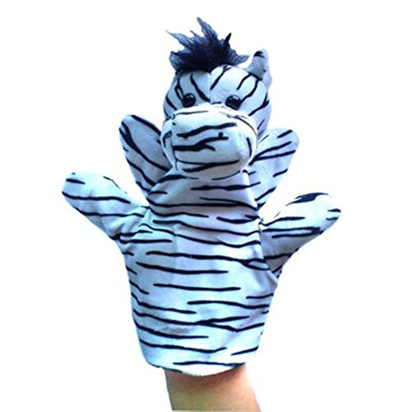 測定大騒ぎ退屈知育玩具 赤ちゃん 布のおもちゃ ぬいぐるみ 人形 ハンドパペット ノリノリで遊ぶ ギフト 出産祝い 内祝い プレゼント 面白い(シマウマ) #01