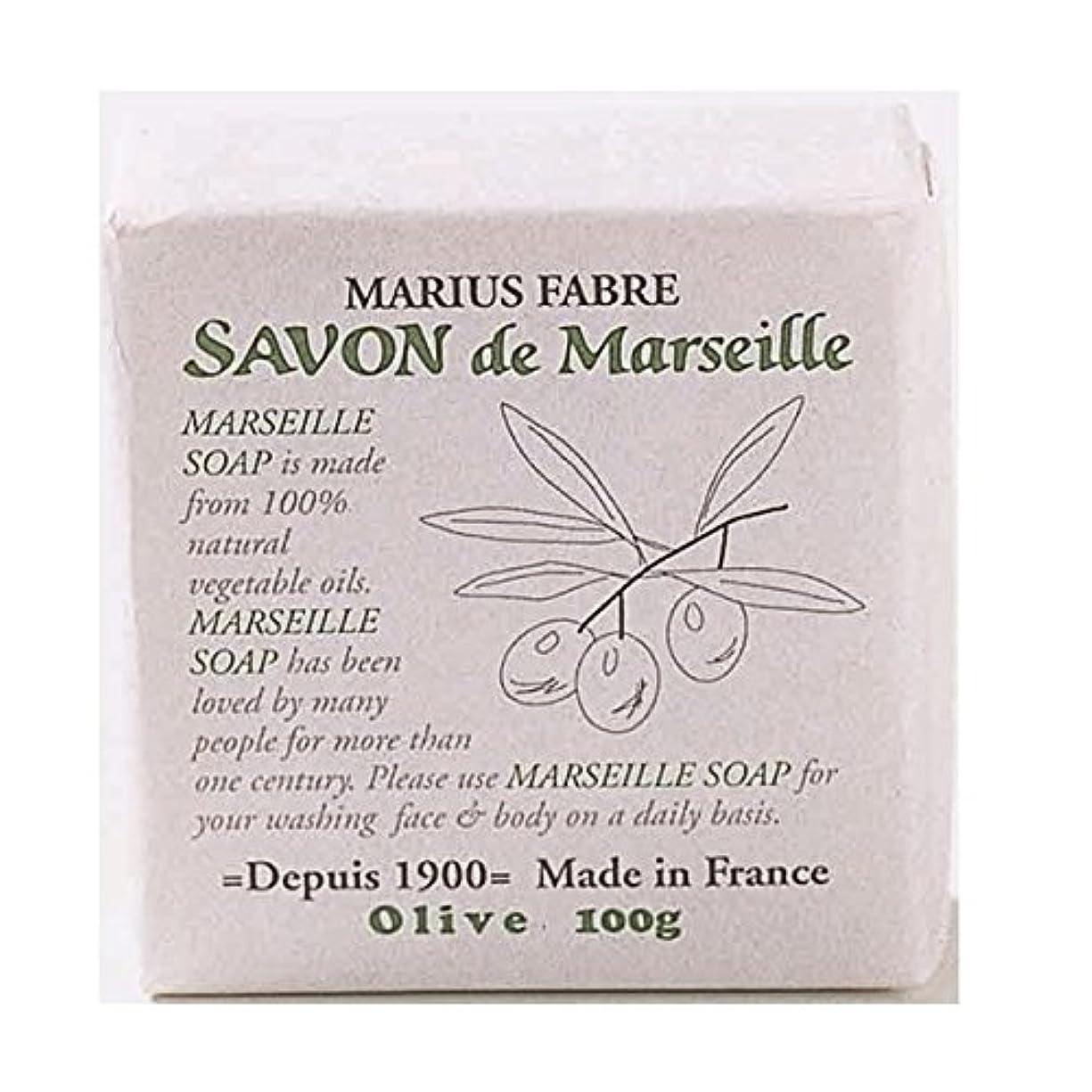日常的に貫入発行サボンドマルセイユ 無香料 オリーブ石鹸 100g 6個セット マリウスファーブル