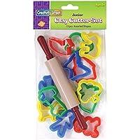 Creativity Street 13-Piece Junior Cutter Set, 12 Cutters and 1 Rolling Pin by Creativity Street