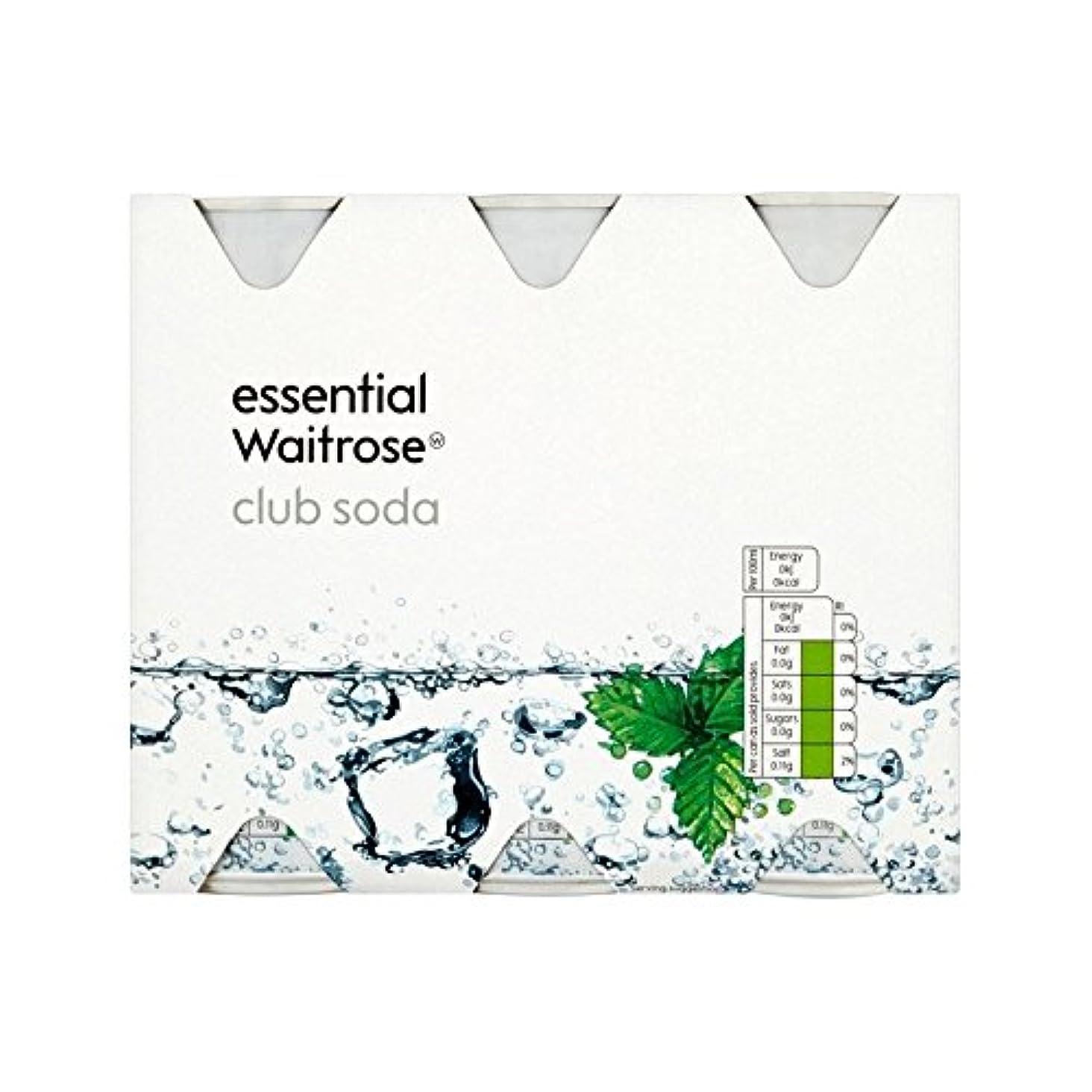 校長しなやかな胴体クラブソーダ不可欠6のX 250ミリリットル (Waitrose) - Club Soda essential Waitrose 6 x 250ml