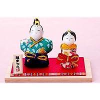 雛人形 コンパクト 人形師の手造り雛人形 柚子舎作 ちりめん立雛飾り