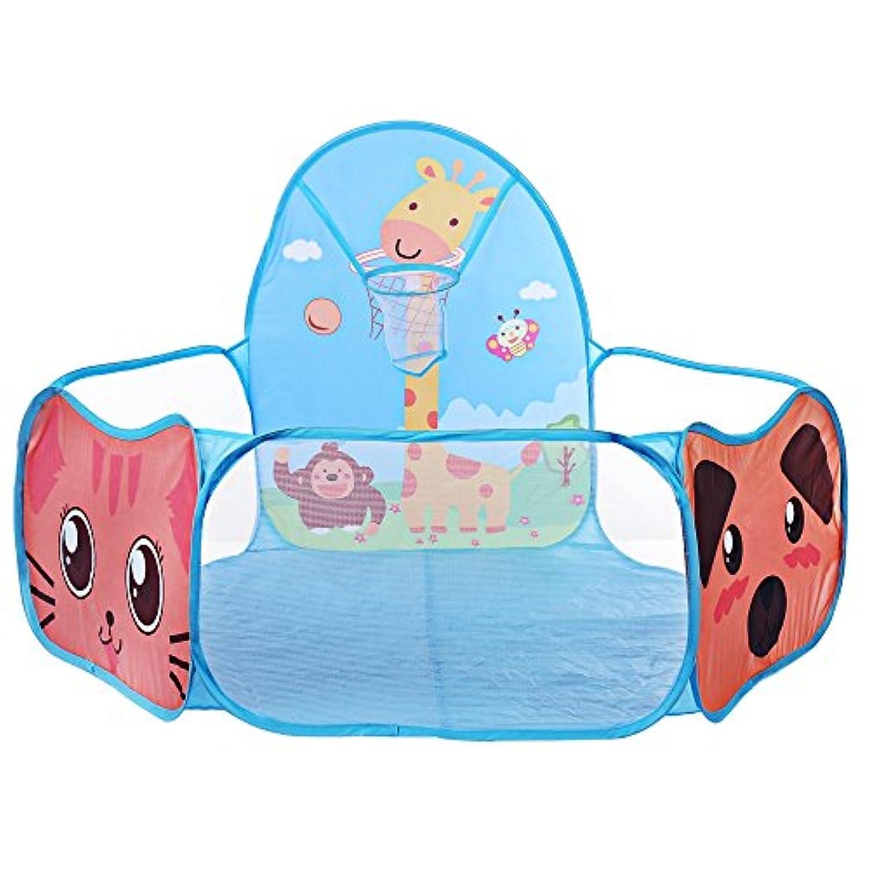 ポータブル海洋ボールピットプール子供用テント家ゲームプレイHutおもちゃ子供ギフトインドアアウトドアブルー