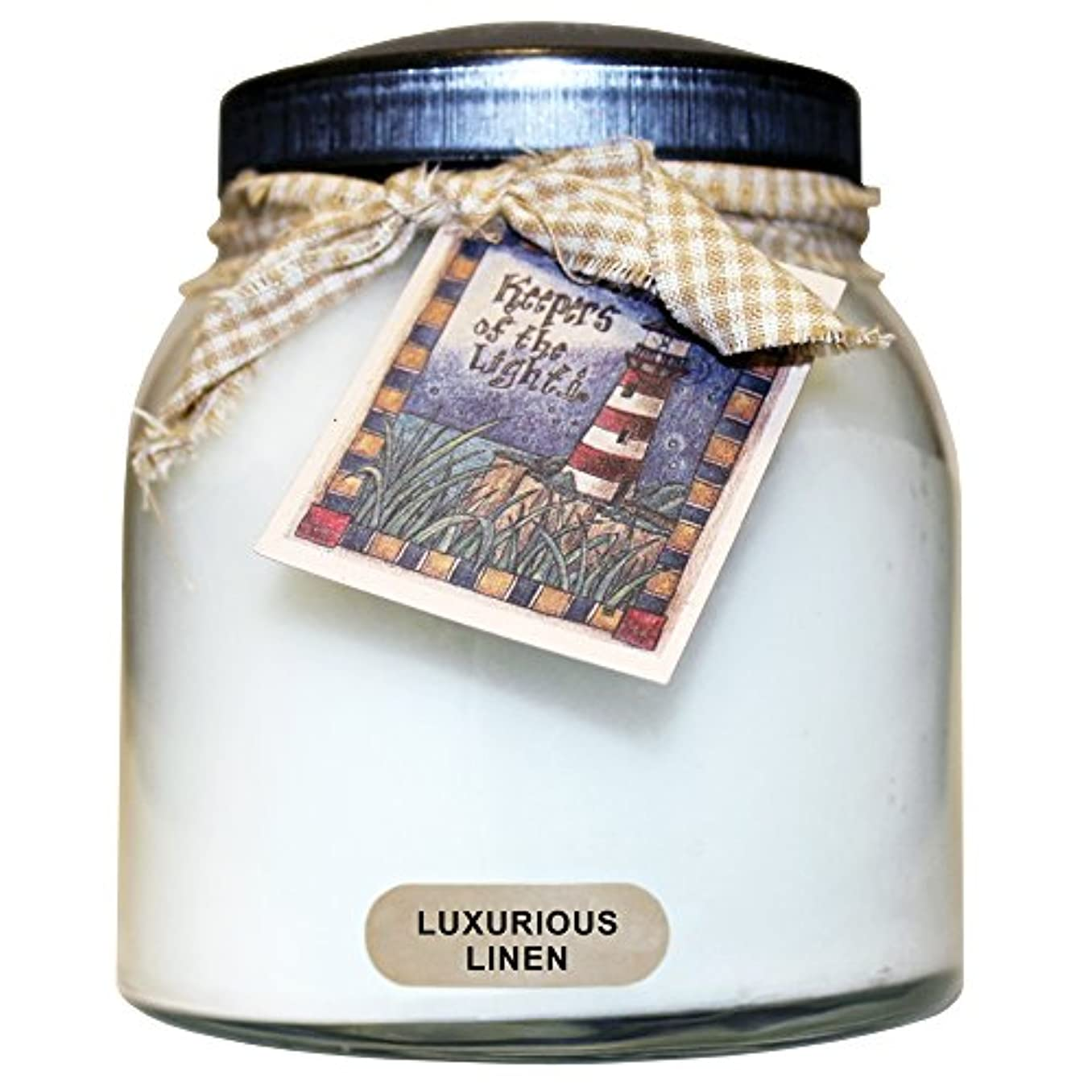 A Cheerful Giver豪華なリネンベビーJar Candle 34oz JP02