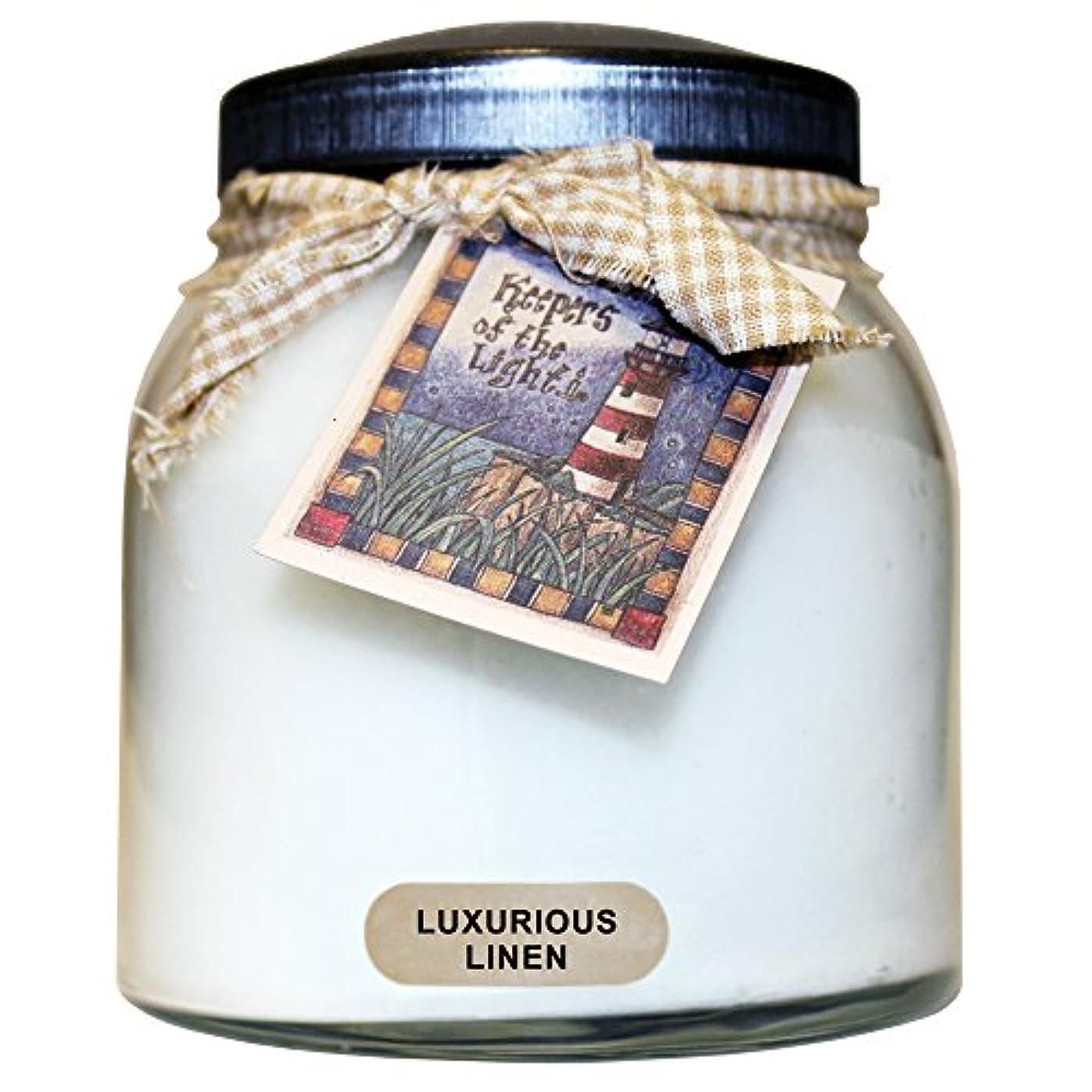 不快な個人敷居A Cheerful Giver豪華なリネンベビーJar Candle 34oz JP02