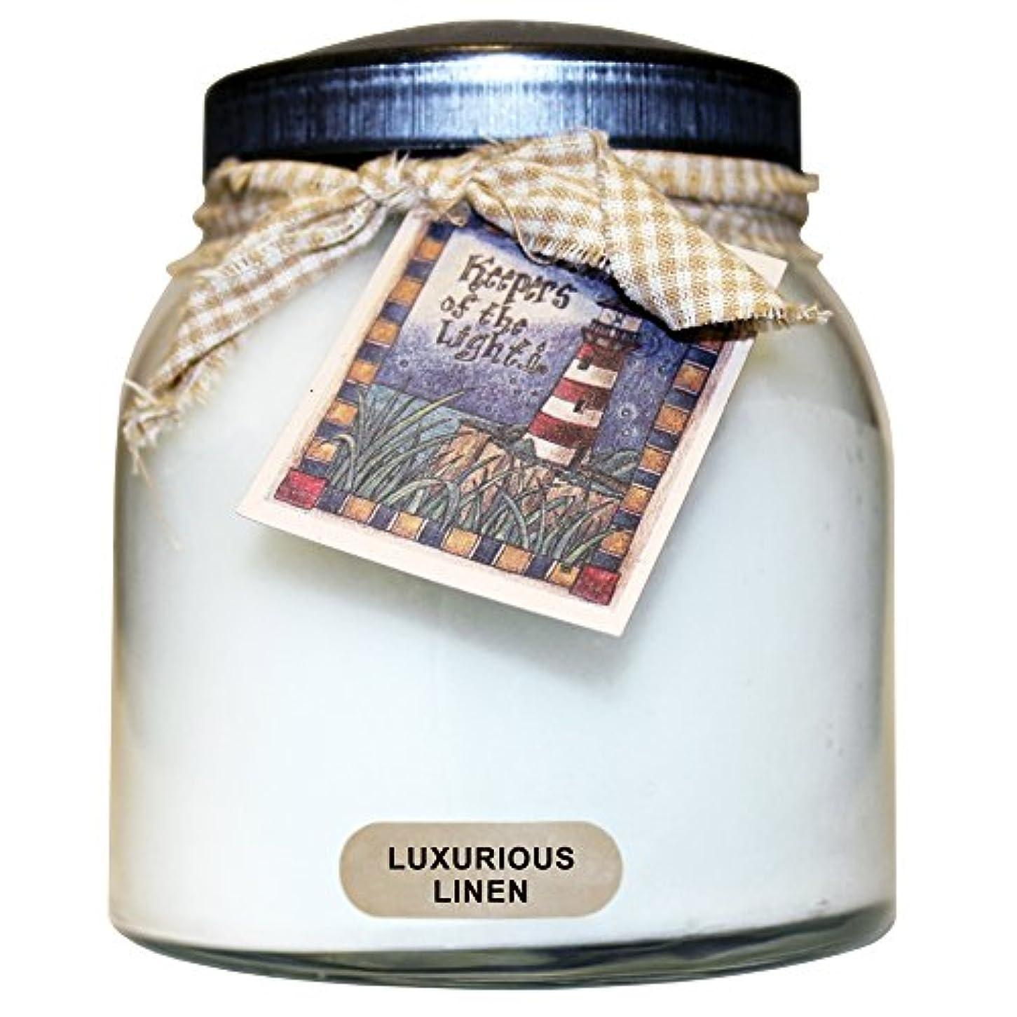 脇に渇きラフA Cheerful Giver豪華なリネンベビーJar Candle 34oz JP02