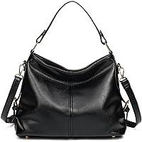 Women's Leather Hobo Handbag from Covelin, Durable Shoulder Bag Retro Purse