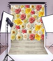 写真撮影背景ビニール5x 7ft Backdrop Studio Props美しい花びらLover専用バレンタインの日