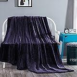 ツキノユメ 毛布 シングル あったか マイクロファイバー 柔らかい 暖かい 洗える ふわふわ 軽い フランネル毛布 140x200cm ネイビー