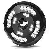 28Ledガーデンライト 充電式 パラソルライト 2点灯モード 400LM 4400mAh充電池内蔵 スポットライト ポータブルLEDライト ワイヤレスライト パラソル用 傘用LEDライト 屋外の活動バーベキュー、キャンプ、カードに照明用