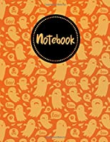"""Halloween Boo Ghost Notebook: Journal, Composition Book, 130 pages, Lined, 8.5x11"""""""