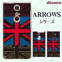 docomo ARROWS Kiss F-03E 専用 カバー ケース (ハード) [Kouken] イギリス4 ブラック