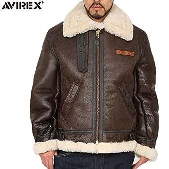 AVIREX アビレックス 2104 B-3 シープスキン レザージャケット BROWN/ミリタリージャケット BROWN 表記36