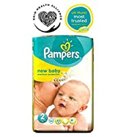 Pampers New Baby Nappies Size 2 Essential Pack - 56 Nappies - パンパース新しい赤ちゃんのおむつサイズ2不可欠パック - 56おむつ (Pampers) [並行輸入品]