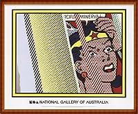 ポスター ロイ リキテンスタイン Reflections on Minerva 額装品 ウッドハイグレードフレーム(ナチュラル)