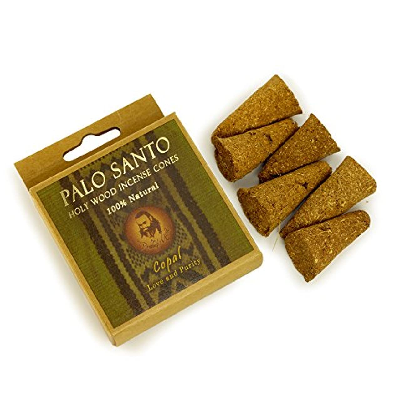 本部ホバート符号Palo Santo and Copal – Love & Purity – 6 Incense Cones